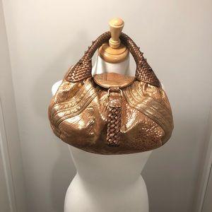 Fendi Mini Rose Gold Nappa Leather Spy Bag